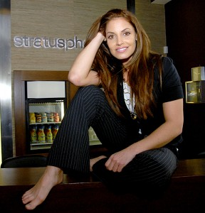 Fitness diva aims for the Stratusphere