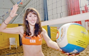 ON GUARD FOR THEE: Beach volleyball defender Melissa Humana-Paredes will be representing Canada at the 2010 Under-19 World Championships in Portugal after a hard fought high school season at Humberside.