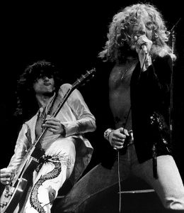 Jimmy Page and Robert Plant kick it up a notch back during Led Zeppelin's heyday.