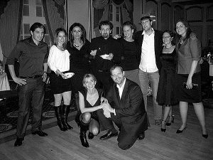 The staff of the Corriere and the Town Crier during the 2010 Christmas party.