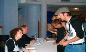 Margaret Atwood signing my former copy of The Handmaid's Tale back in Sept. '03 at the Young People's Theatre in Toronto.