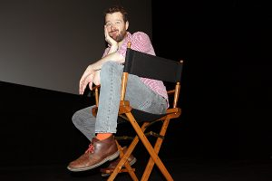 Brian Baker/Town Crier SQUEEZE PLAY: Leasider Pat Smith, hamming it up in November inside Theatre 2 at the Bell TIFF Lightbox, gave up on a pro baseball career in favour of screenwriting after he ran into Hollywood writers Dana Fox and Lorene Scafaria at a Los Angeles Clippers game.