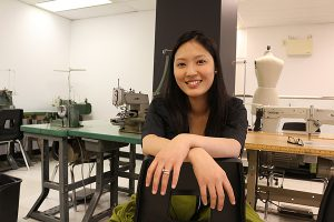 BRIAN BAKER/TOWN CRIER HAUTE COUTURE: Sel Unson, a graduate of the Academy of Design in Davisville, has been named one of 25 finalists for the annual Télio Canada Breakthrough Designers competition.