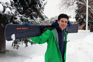 BRIAN BAKER/TOWN CRIER FLYING HIGH: Forest Hill CI's Andrew Hildebrand has been tearing up the slopes in the Toronto District School Board's meets, and turned his focus to a gold-winning OFSAA performance for the school in late February.