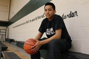 BRIAN BAKER/TOWN CRIER AGAINST ALL ODDS: Marshall McLuhan Rebels Dave Bayubay overcame the loss of his cousin and rejection from several school teams on the way to becoming Marshall McLuhan's best basketball player.