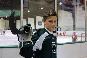 BRIAN BAKER/TOWN CRIER BIG GREEN, BIG DREAM: North Toronto native Troy Crema, a top-line centre for NCAA Division 1 hockey team Dartmouth College, says he isn't giving up on being drafted into the NHL though he is 19.