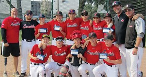 PHOTO COURTESY DAN BERLIN NEXT STOP, PROVINCIAL CHAMPIONS: Leaside's Bantam AA team won the Toronto Baseball Association's title over Royal York. Members of the squad include Mark McIlhone, Shane Thorsteinson, Jonah Jay, Jimmy MacDonald, Aaron Gotkin, Nico Robert, Owen Benson, Matt Tohana-Belisle, Liam Haggerty, François Bourbonnais and Chris Dinnick. Leaside was coached by Todd Betts, Dan Berlin, Steve Osterer and Paul Rosen.