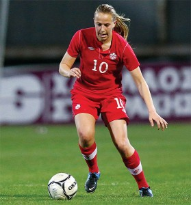 PHOTO COURTESY CANADA SOCCER DRIVEN: Havergal alumna Rebecca Quinn has a shot at making the senior women's team for the World Cup.