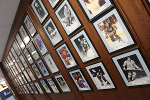 BRIAN BAKER/TOWN CRIER THE WALL: Photos of NHLers past and present adorn the walls of St. Michael's Arena at the Bathurst and St. Clair school.