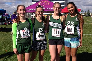 PHOTO COURTESY BRANKSOME HALL STRONG QUARTET: Grade 11s Kate Macmillan, left, Mary Jane Hill-Strathy, Maggie Keyworth and Yasmine Elkhouly look to boost Branksome Hall's profile at CISAA and OFSAA in cross country.