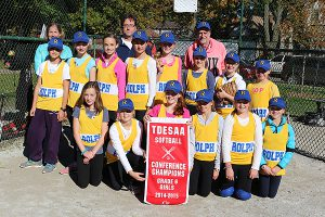 BRIAN BAKER/TOWN CRIER WINNING WAYS: Rolph Road Roadrunners junior girls slo-pitch team won their conference championship on Oct. 23 and look to win the TDESSA championships on Tuesday morning.