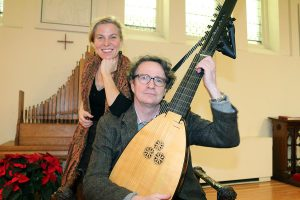 BRIAN BAKER/TOWN CRIER     IF IT AIN'T BAROQUE: Soprano Hallie Fishel, left, and lutenist John Edwards of Musicians in Ordinary will perform music from Baroque composers Jan. 1 and 2 at Heliconian Hall.