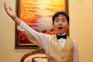 BRIAN BAKER/TOWN CRIER THE NEXT TENOR? Andrew Ma, 9, of Forest Hill earned his first Royal Conservatory of Music gold medal last year, and is seeking another in May when he performs his Grade 3 voice exam.