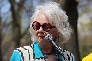 BRIAN BAKER/TOWN CRIER  A CANADIAN TREASURE: Sharon, Lois and Bram founder Lois Lilienstein is seen during the dedication ceremony for a playground named in the troupe's honour at June Rowlands Park last May. She died of a rare form of cancer on April 22 at her Summerhill home. She was 78.