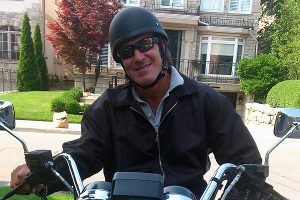 Photo courtesy Mitchell Dubros MOTORCYCLE RIDING sleuth Mitchell Dubros is ready to investigate any nefarious deeds in midtown Toronto.