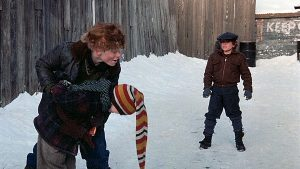 STILL COURTESY MGM Scut Farkus, the infamous bully from A Christmas Story certainly gave protagonist Ralphie something to overcome.