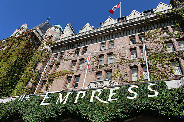 BRIAN BAKER/brianrbaker.com THE EMPRESS: Funny story about my trip to Victoria, B.C. with my wife: We went on a ghost walk and it ended at the place where we staying. (Not the Empress, but it was on the trek).