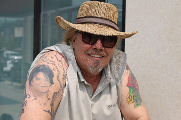 BRIAN BAKER/TOWN CRIER FAITHFUL FRIEND: Raymond Ratchford tattooed the visage of his close friend and boss Rita MacNeil on his right arm. He sang backup with MacNeil for over 20 years and was shaken by her sudden death in 2013.