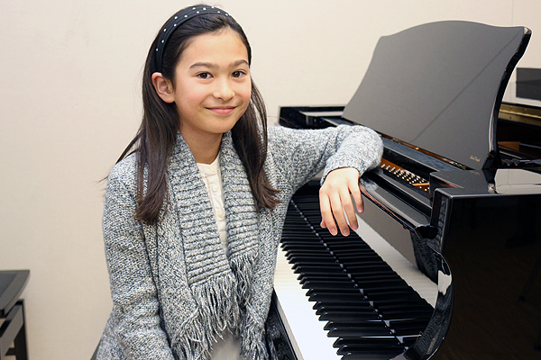 BRIAN BAKER/TOWN CRIER GOLDEN GIRL: Summerhill's Hana Lebedev earned a gold medal during her Level 4 regional exam Nov. 22. Some of her favourite piano composers are Beethoven, Mozart and Bernhard Heiden.