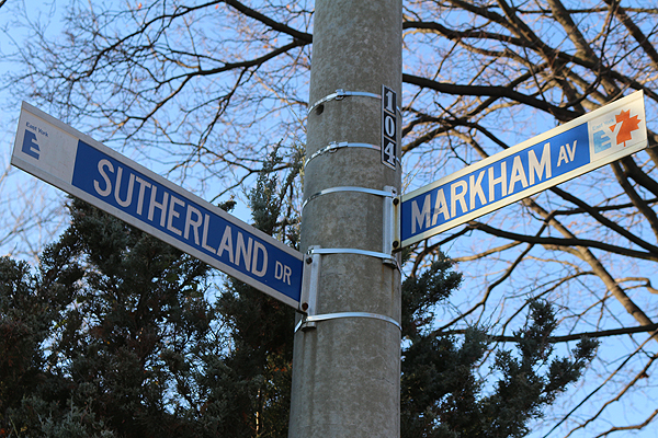 BRIAN BAKER/TOWN CRIER SIGNS OF CHANGE: Markham Avenue will be given a new name in the spring, after a committee of Leasiders worked to get it renamed in honour of David Stickney, a long-time community member, teacher and leader in Leaside.