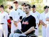 Junior baseball team honours injured teammate