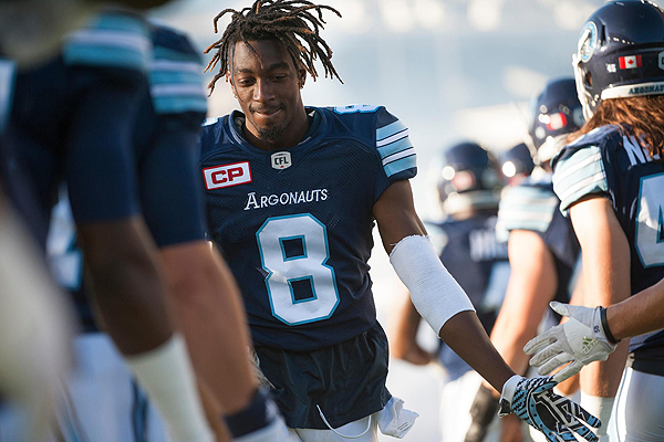 PHOTO COURTESY TORONTO ARGONAUTS HIS POST: Toronto Argonauts, and Florida transplant, Kenny Shaw calls midtown his home, and out of all the football markets he's been in, there's no place like Toronto.