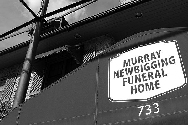 BRIAN BAKER/TOWN CRIER A CERTAIN DARK CHARM: The empty building that used to house Murray Newbigging Funeral Home holds a certain charm to fans of horror.