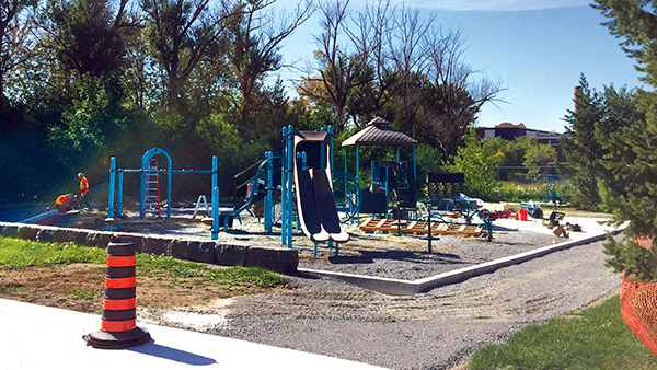 RODGER BURNSIDE/TOWN CRIER WORK AND PLAY: The new playground is coming together in one corner of Linton Park.