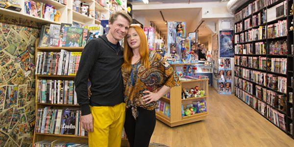 ALEX MALAKHOV/STREETER EXPANDING HORIZONS: Peter Dixon, left, and Kristina Teixeira have expanded Paradise Comics, a bookstore with comics.