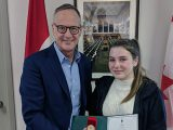 Leaside teen passes shoe charity on to family friend